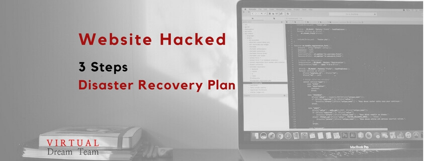 website hacked 3 steps disaster recovery plan